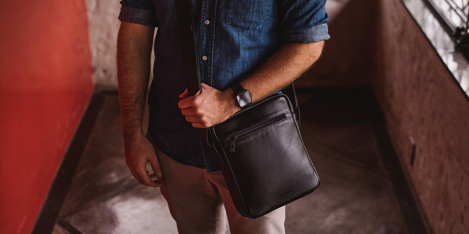 Bolsa de couro para iPad Nômade NW091A